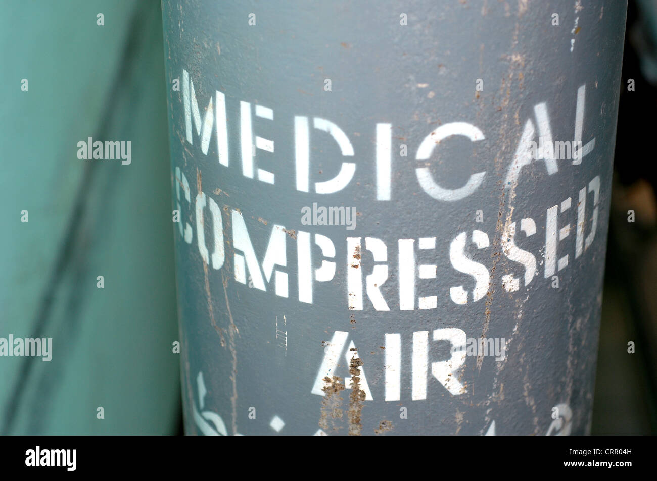 Medical compressed air (Oxygen). - Stock Image