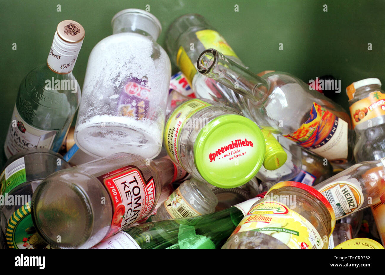 Recyclable glass - Stock Image