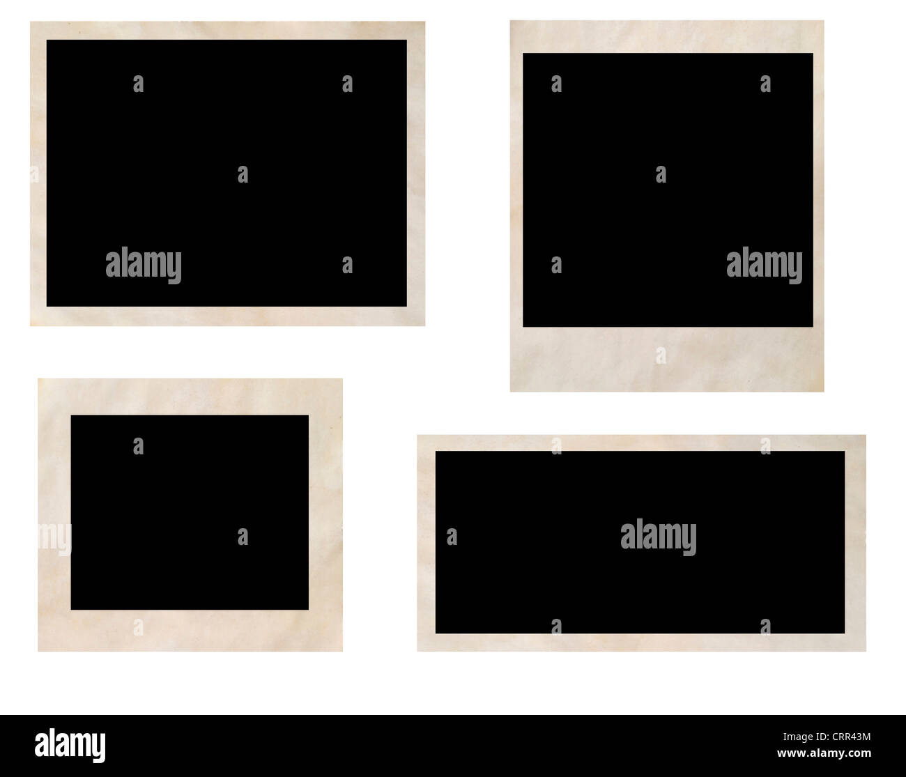photo frames isolated on white - Stock Image