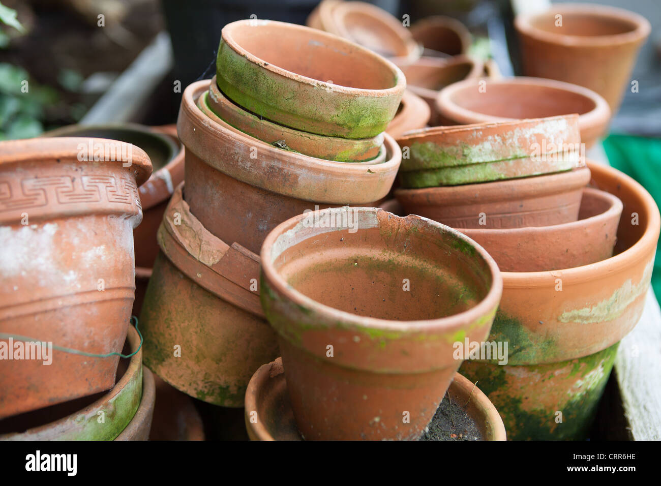 Old Terracotta Pots Stock Photos Old Terracotta Pots Stock Images