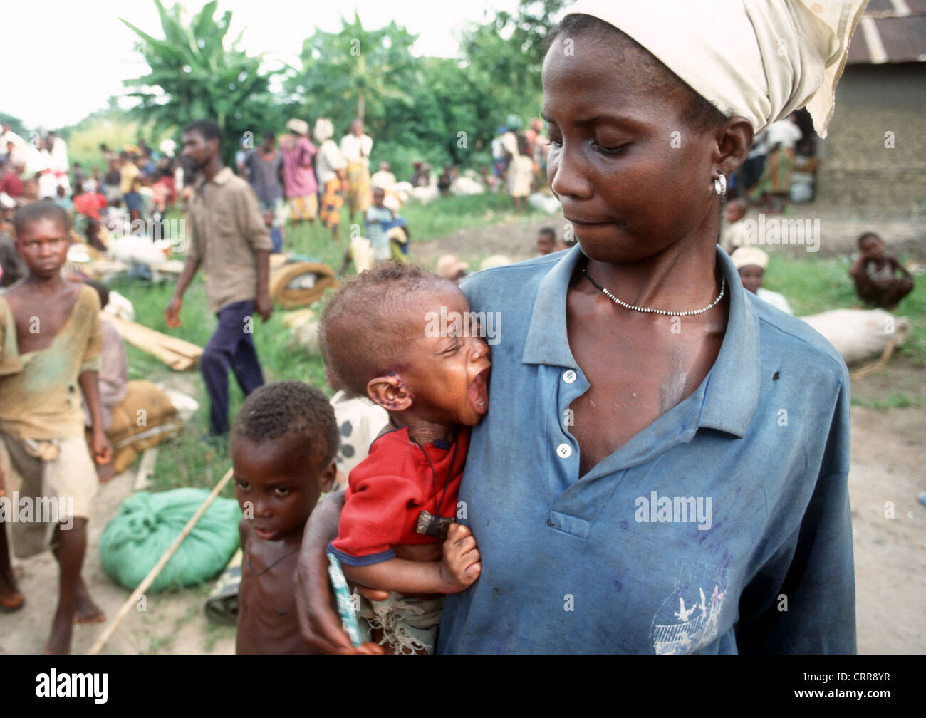 Liberia, refugees from the region Bomi County - Stock Image