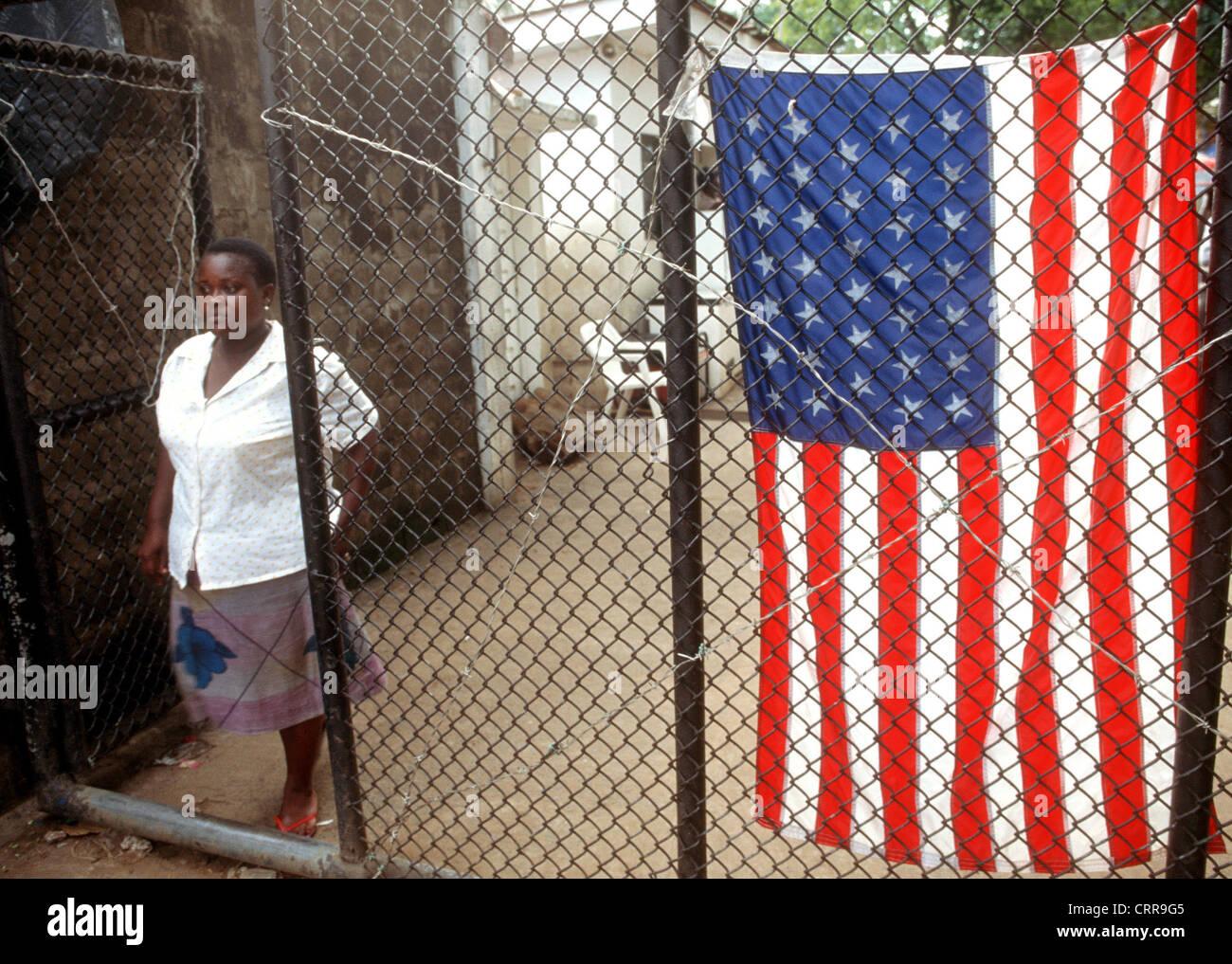 Liberia, refugee camp Greystone - Stock Image