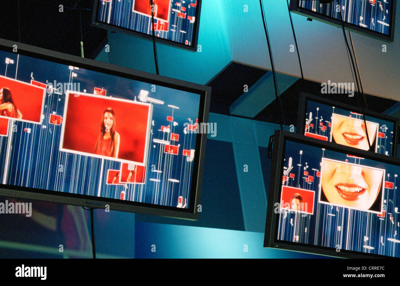 Panasonic shows modern plasma screens at IFA - Stock Image