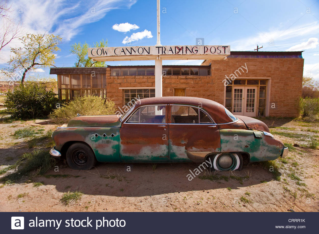 Cow Canyon Trading Post and Restaurant, Bluff, Utah - Stock Image
