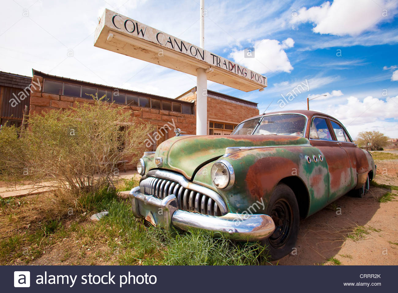 Cow Canyon Trading Post and Restaurant, Bluff, Utah. [Active trading post and gourmet restaurant in the town of - Stock Image