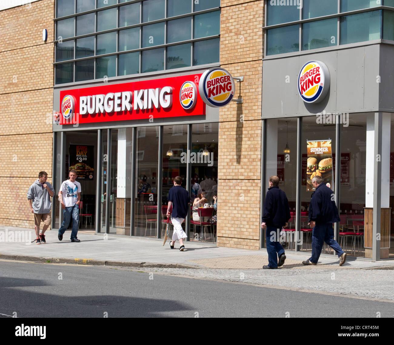 Burger King Fast Food Restaurant Folkestone UK - Stock Image