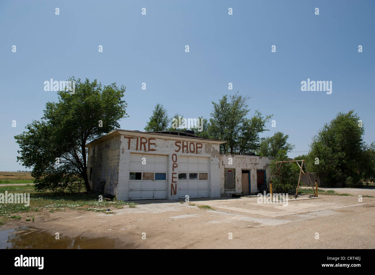 Abandoned Gas Station Along Old Route 66 In Western Oklahoma Stock Photo Alamy