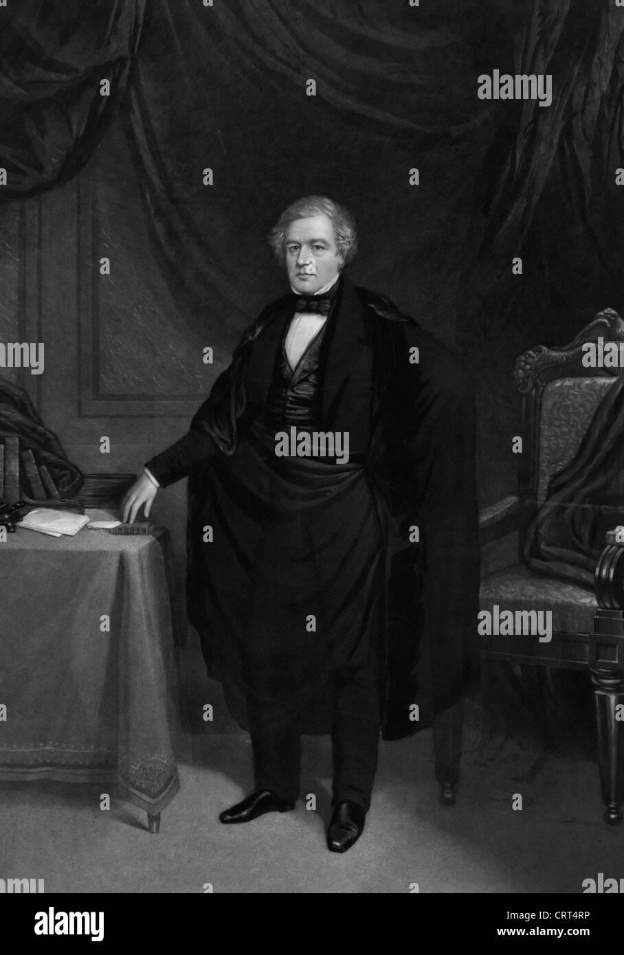 Millard Fillmore, 13th President to the United States America, 1850 - 1853 Stock Photo