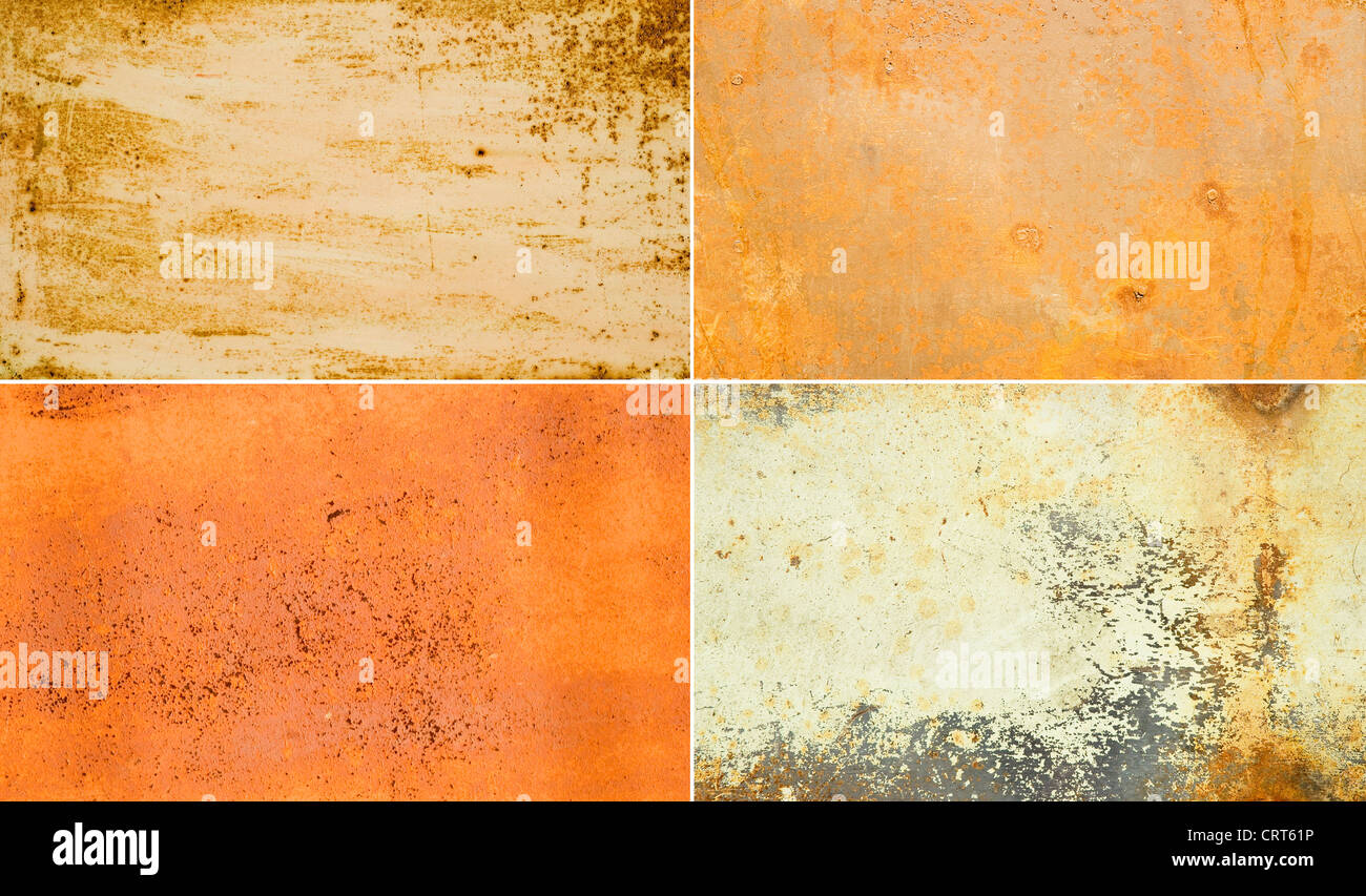 rusty metallic surfaces great as a background Stock Photo