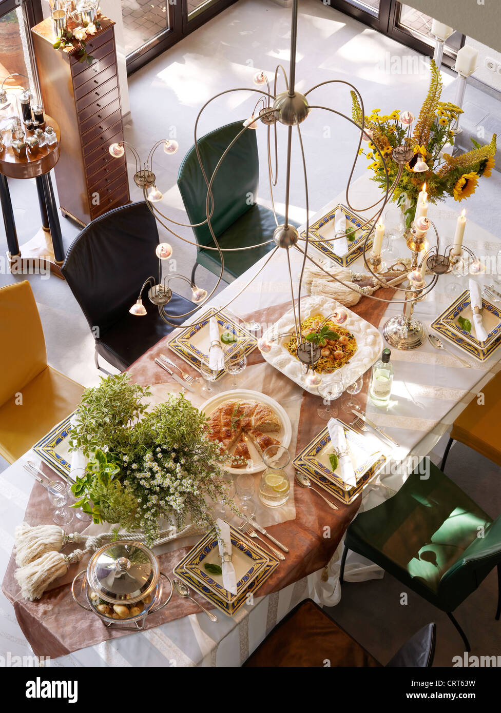 luxury, well-laid table - Stock Image
