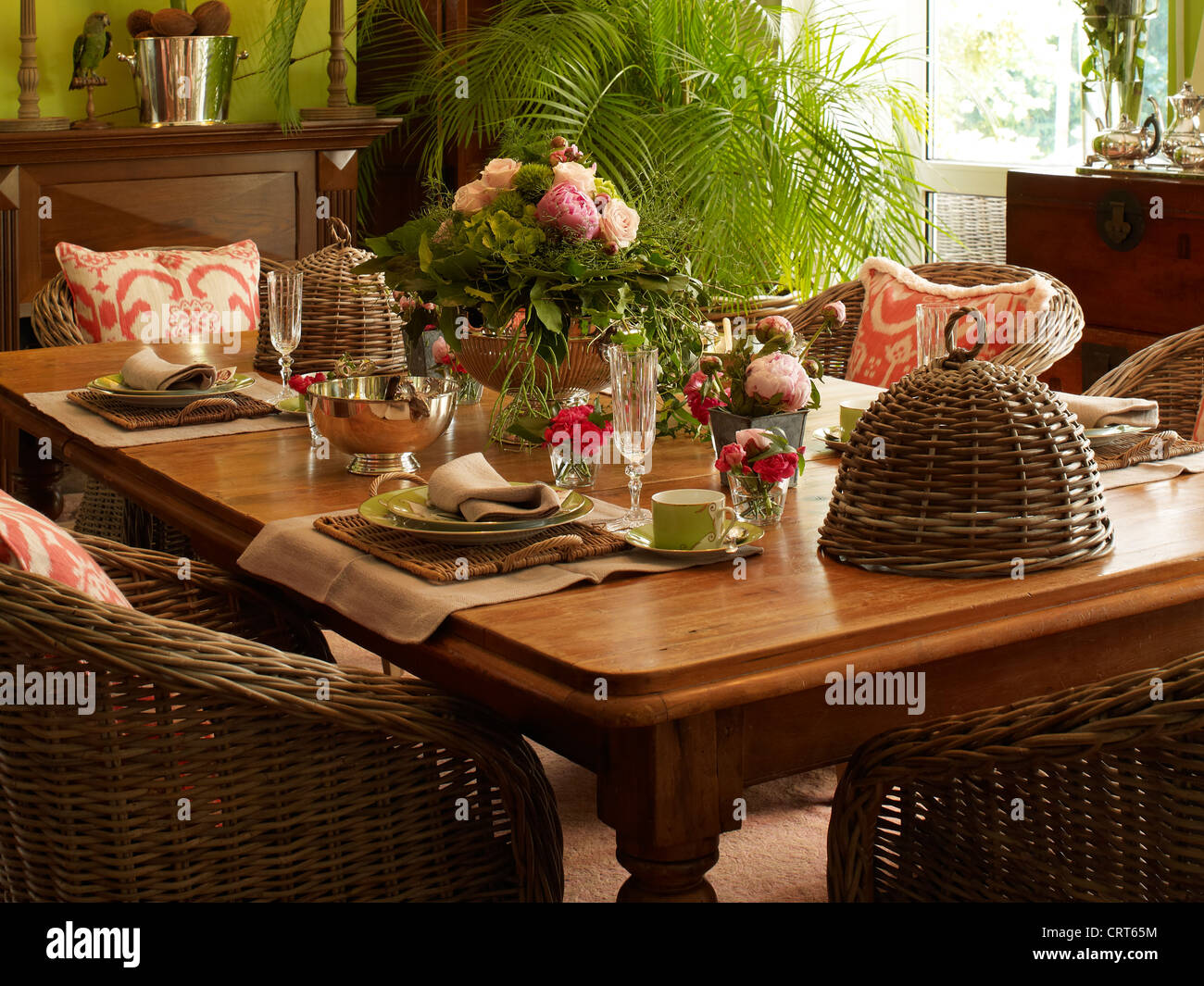 classy ,well-laid table - Stock Image