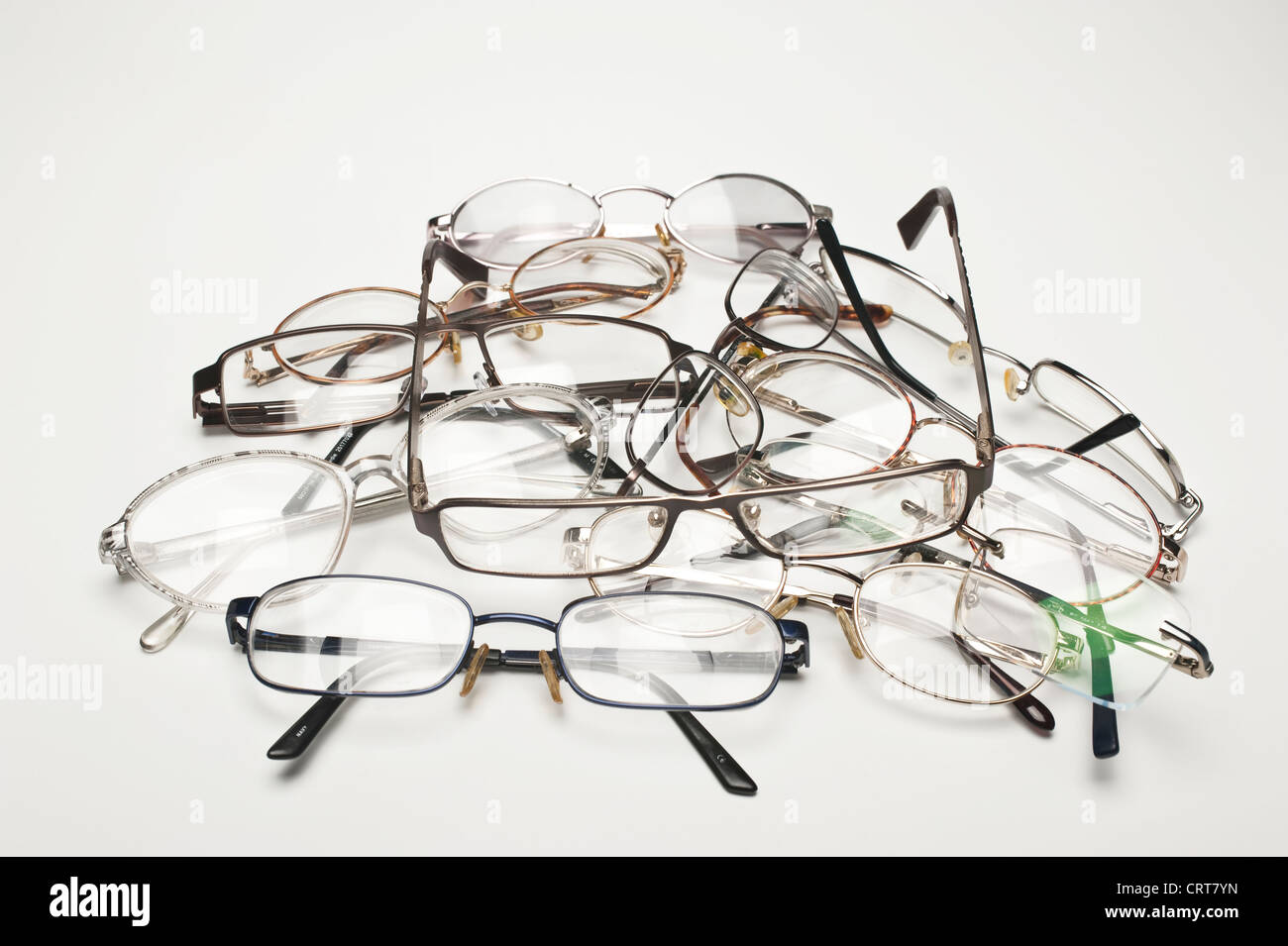 A large group of spectacles or glasses - Stock Image