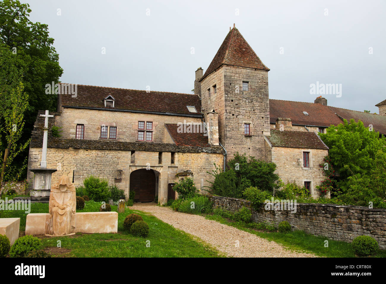 Chateau de Gevrey-Charmbertin in the Bourgogne wine region in France - Stock Image