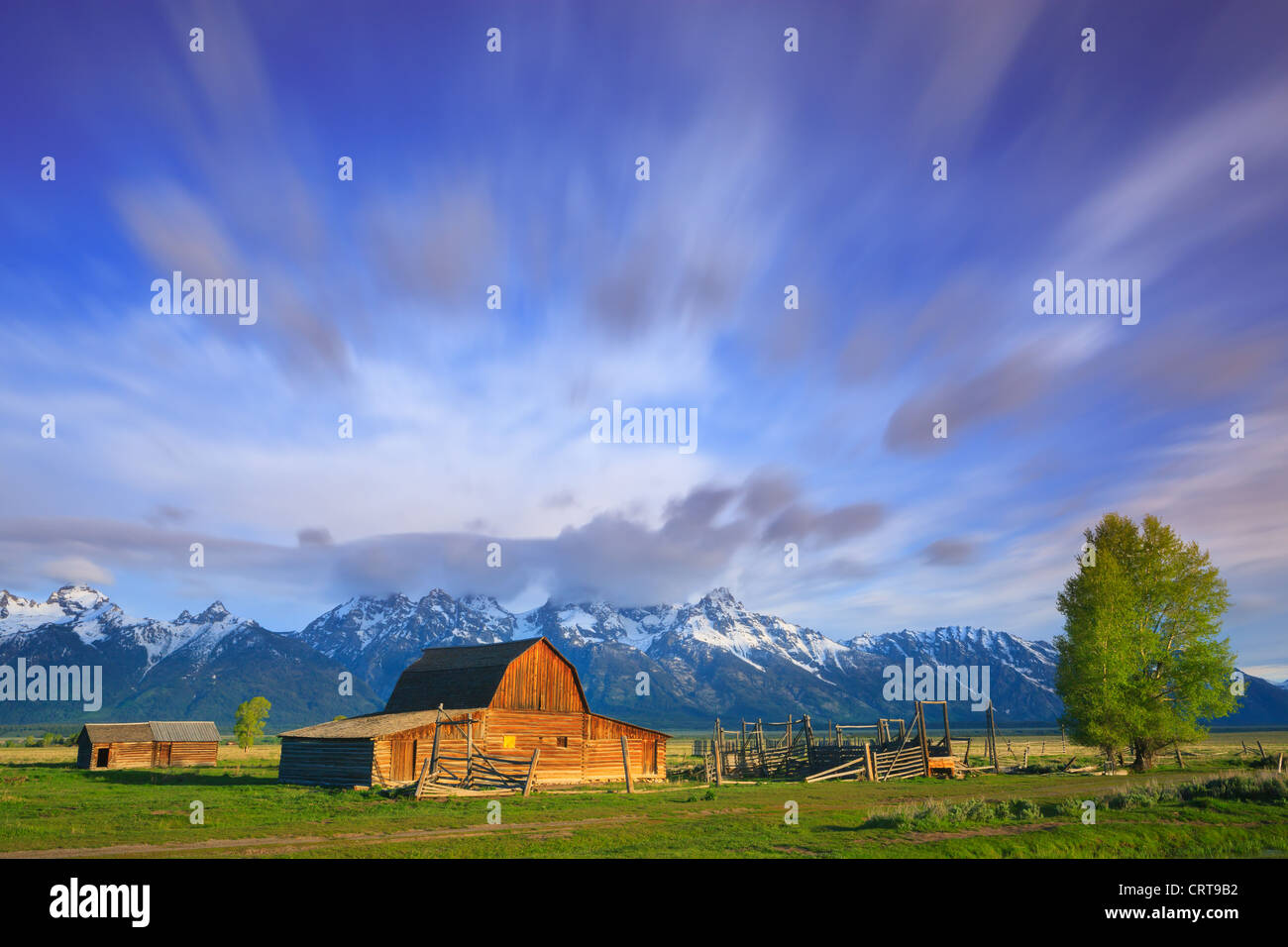 T.A Moulton Barn in Grand Teton National Park - Stock Image