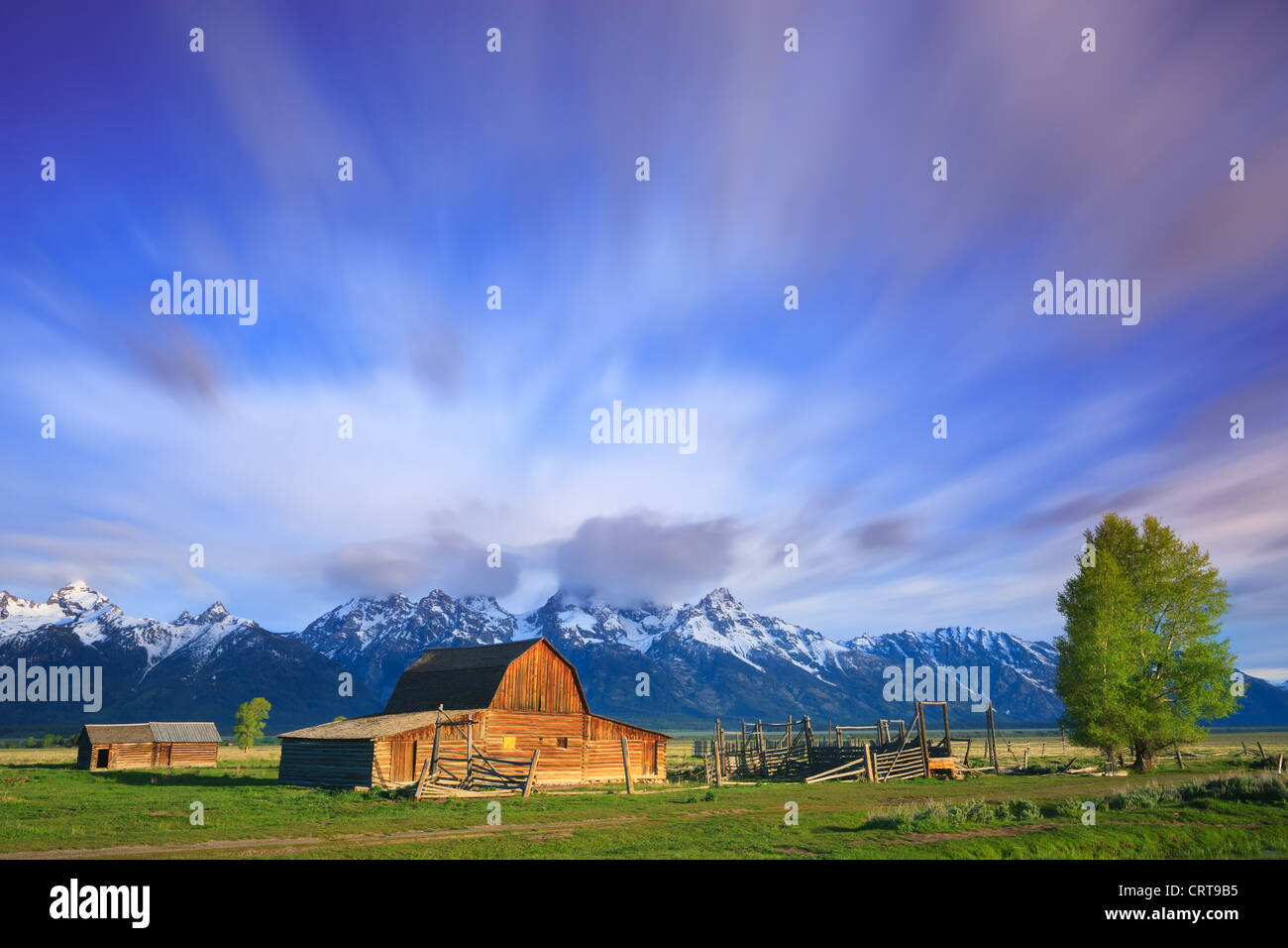T.A Moulton Barn in Grand Teton National Park, Wyoming, USA - Stock Image