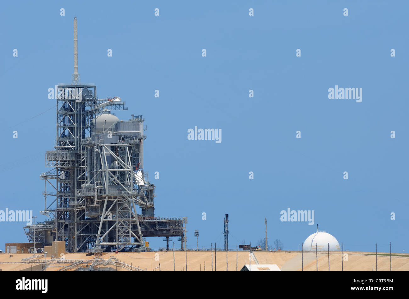 Launch pad at the Kennedy space centre in Florida. - Stock Image