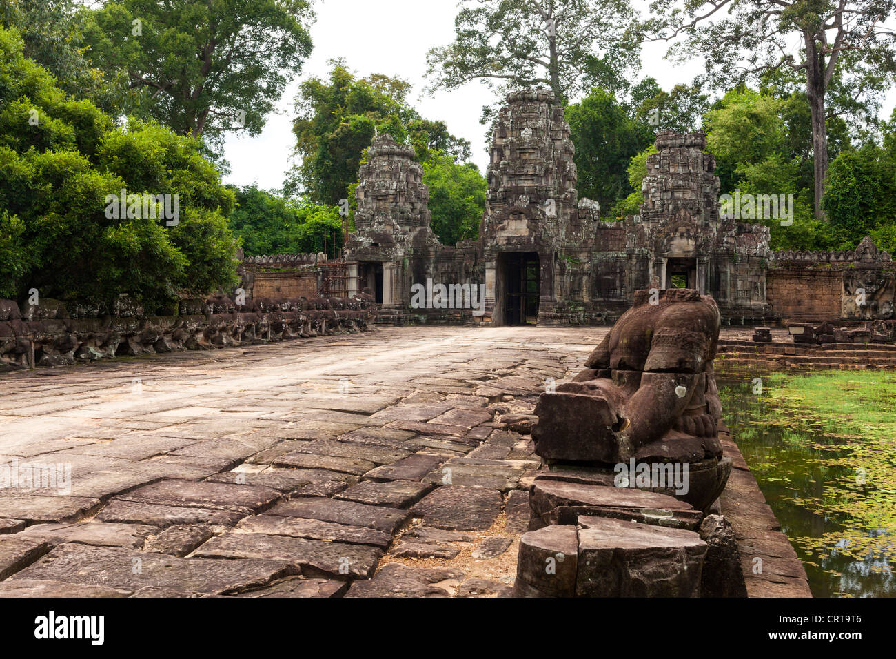 Preah Khan (Sacred Sword). Angkor. UNESCO World Heritage Site. Cambodia. Indochina. Southeast Asia. Asia. - Stock Image