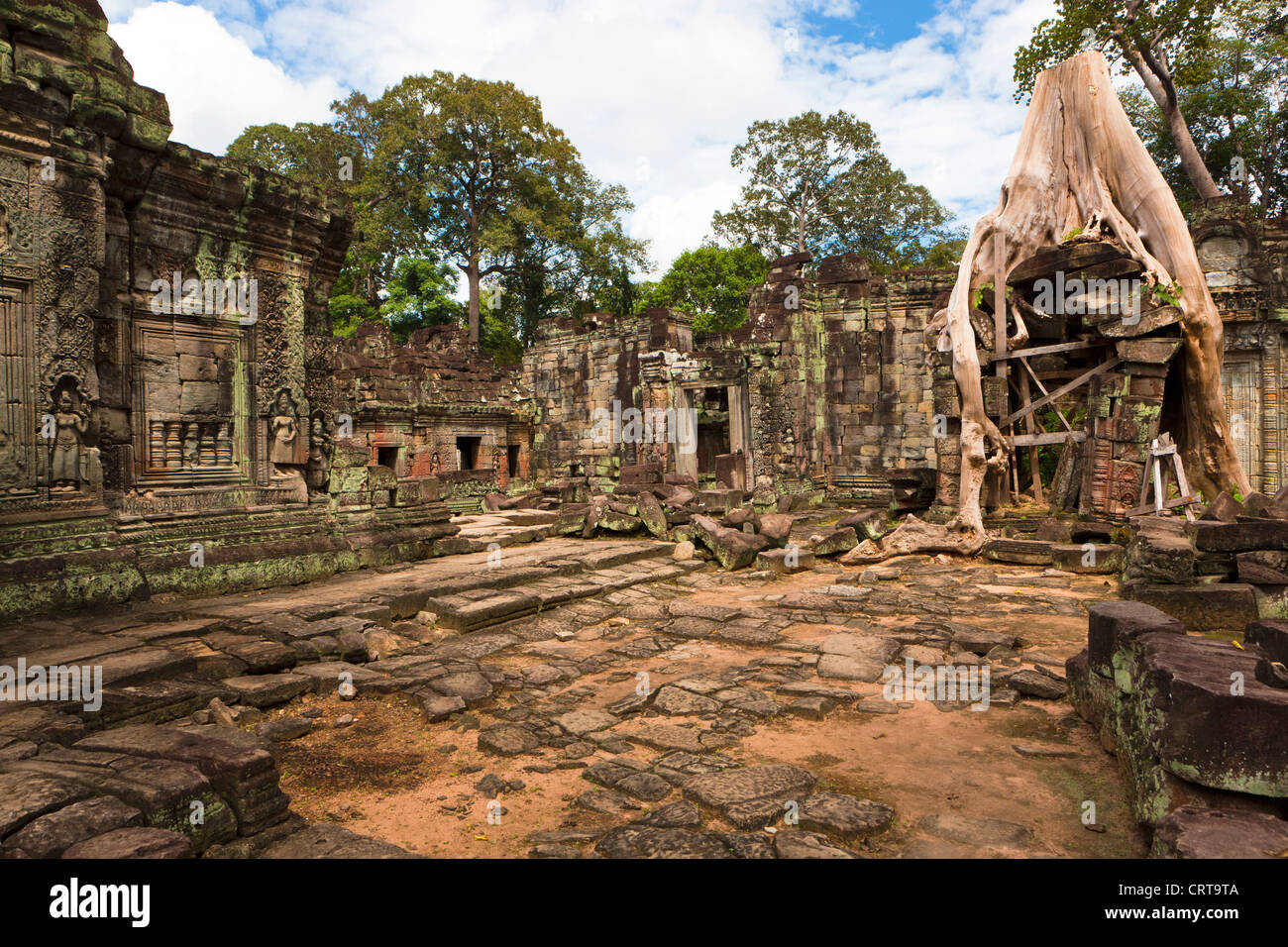 Preah Khan (Sacred Sword), Angkor, UNESCO World Heritage Site, Cambodia, Indochina, Southeast Asia, Asia - Stock Image