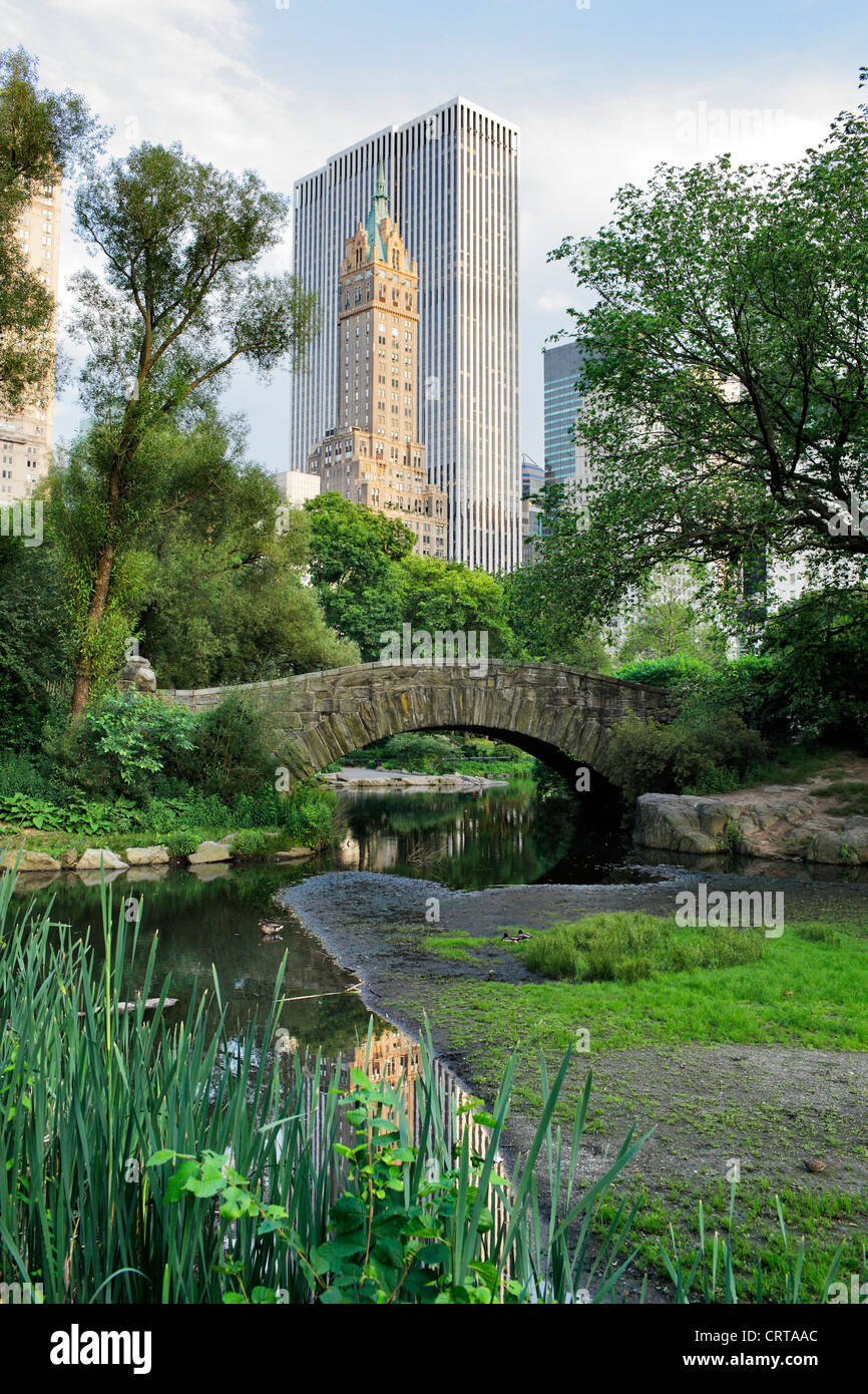 Gapstow bridge in Central Park. Central Park is a public park at the center of Manhattan, New York City, USA. Stock Photo
