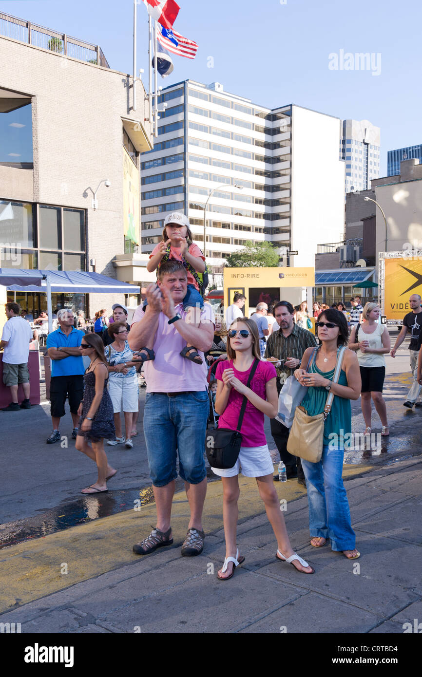 People attending the Just for Laughs Festival in Montreal, province of Quebec, Canada. - Stock Image