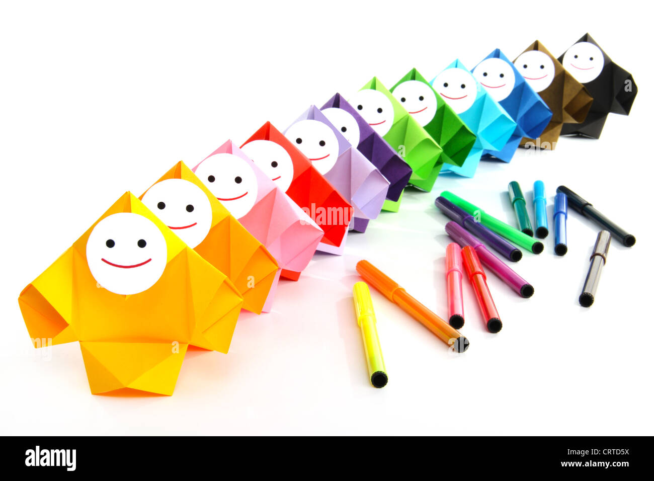 Conceptual image of painting and rainbow colors Stock Photo