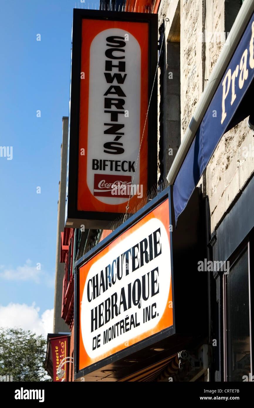 Schwartz's deli in Montreal, Quebec - Stock Image
