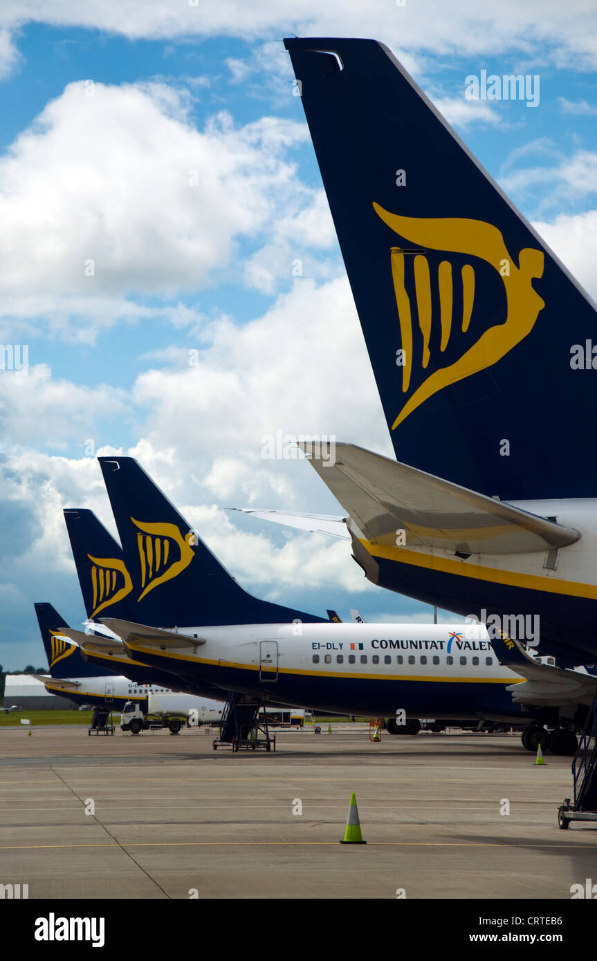 Ryanair Boeing 737-800 series aircraft on the stand - Stock Image