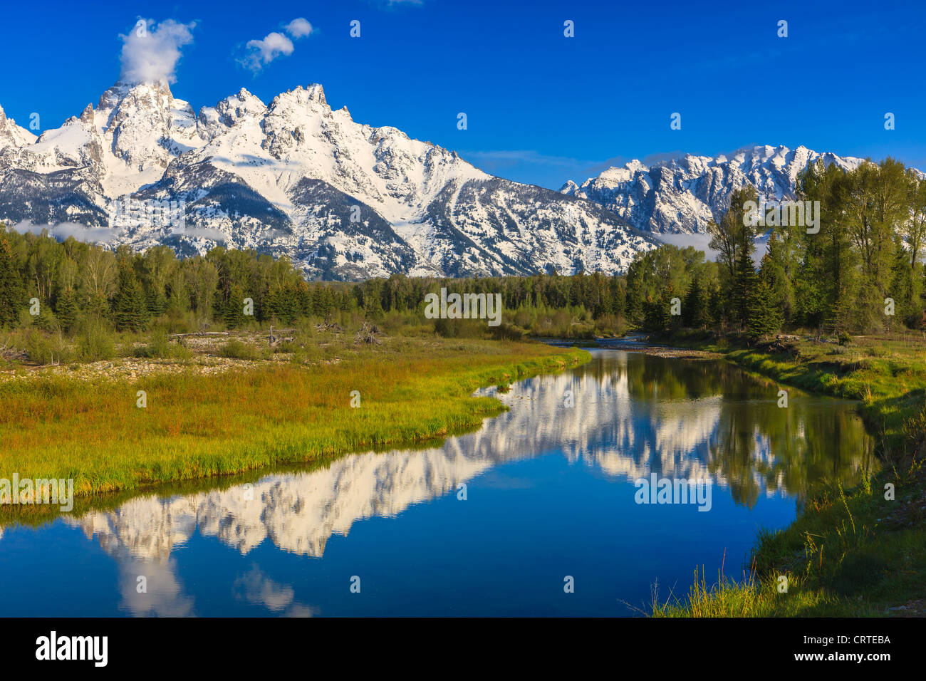 Schwabacher Landing at Grand Teton National Park in Wyoming, USA - Stock Image