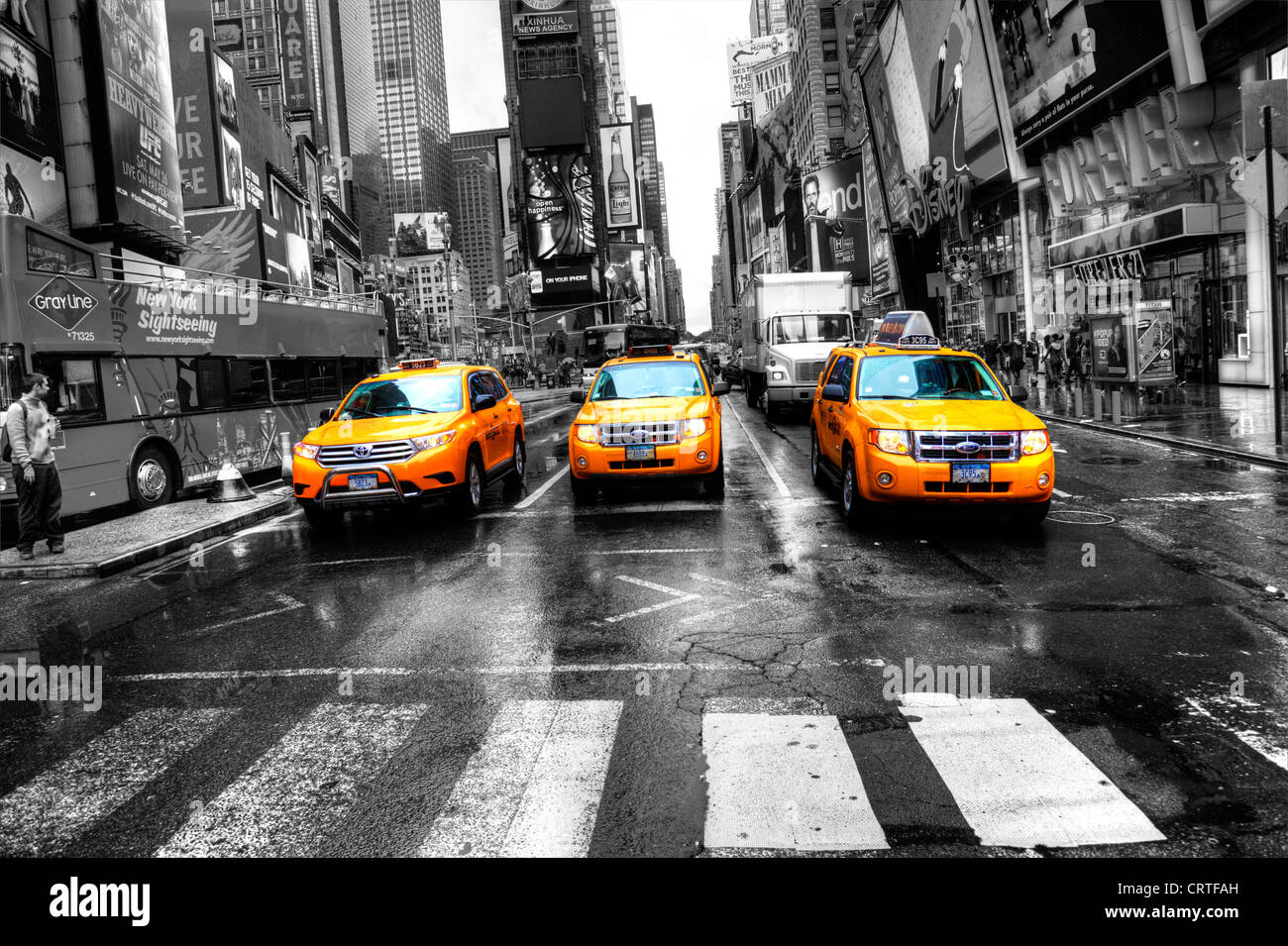 taxis and new york stock photos taxis and new york stock. Black Bedroom Furniture Sets. Home Design Ideas