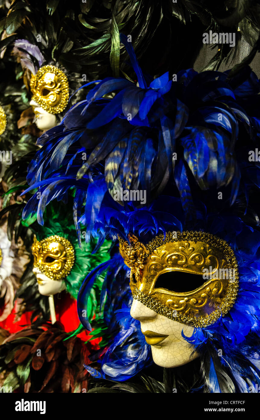 Carnival masks for sale Venice (Venezia) Veneto Italy Europe - Stock Image