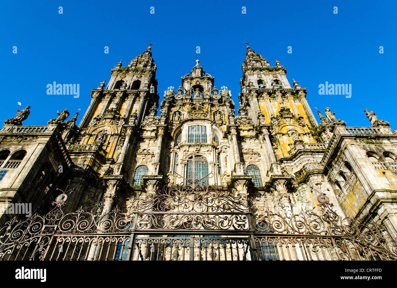 Santiago de Compostela Cathedral North Spain Europe - Stock Image