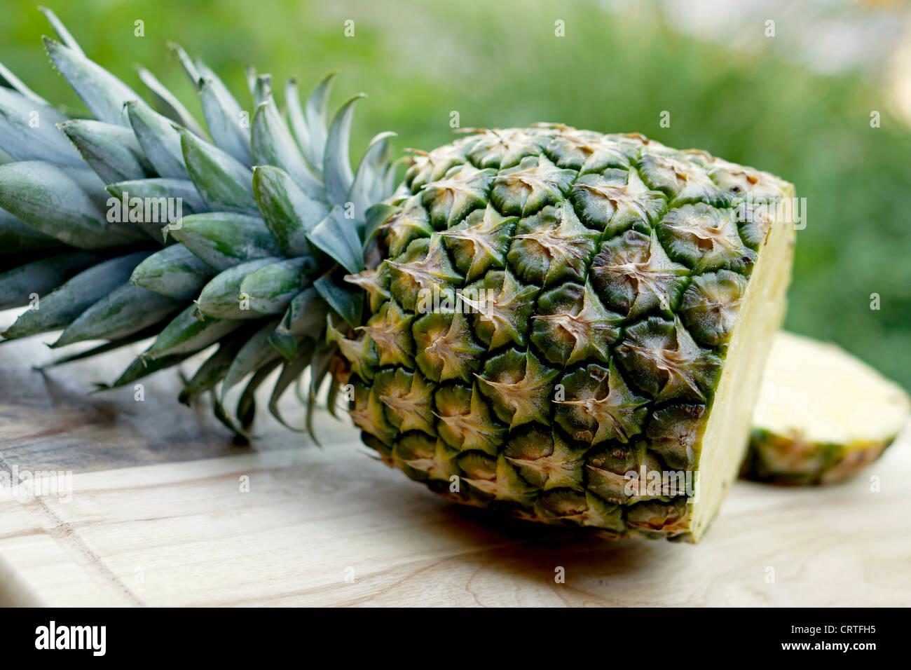 Pineapple Sliced, Ananas Cut - Stock Image