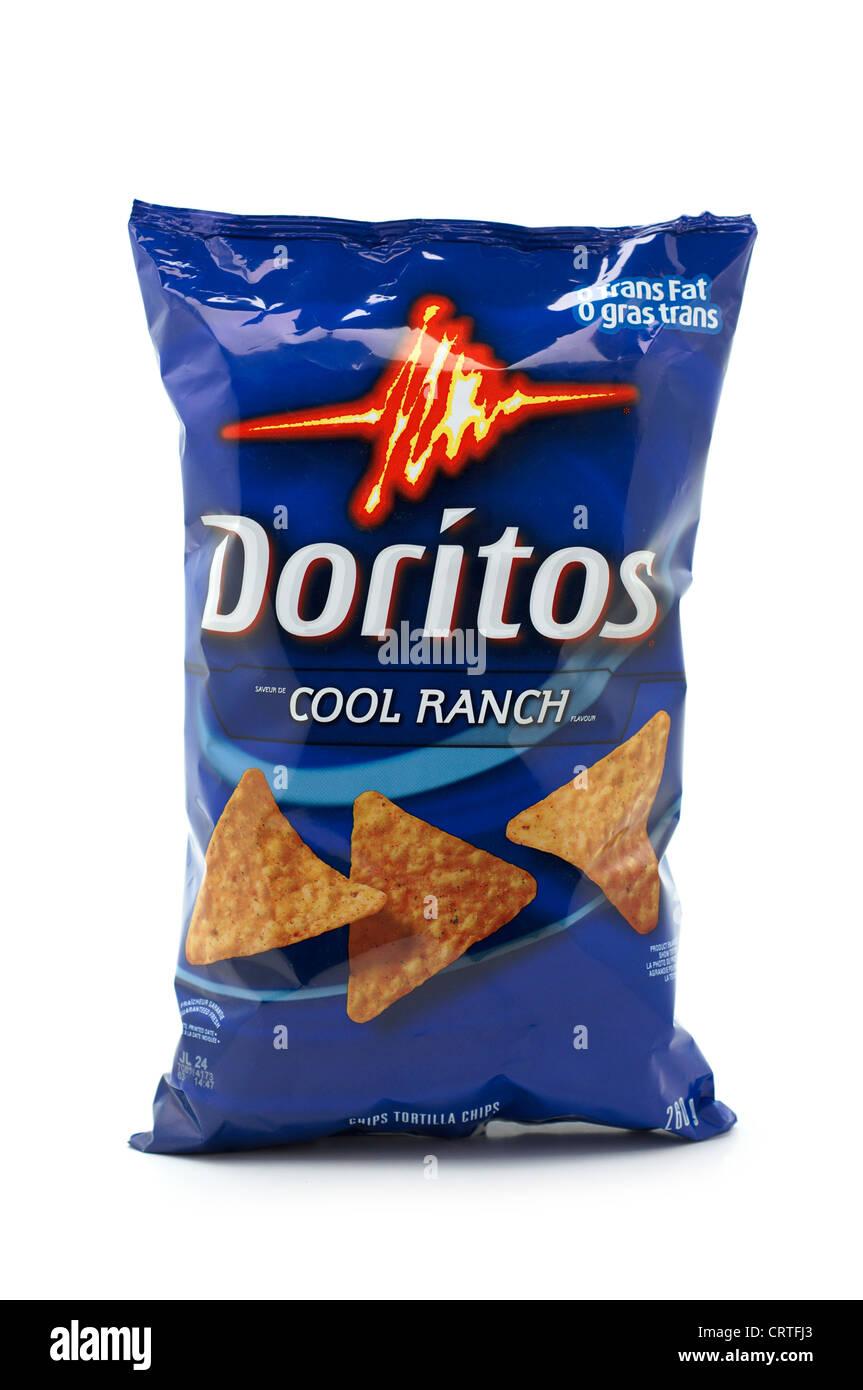 Bag of Doritos, Cool Ranch flavour - Stock Image