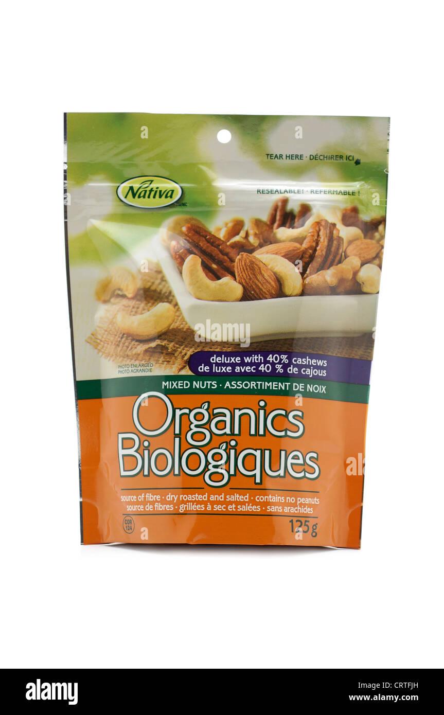 Bag of Mixed Nuts - Stock Image
