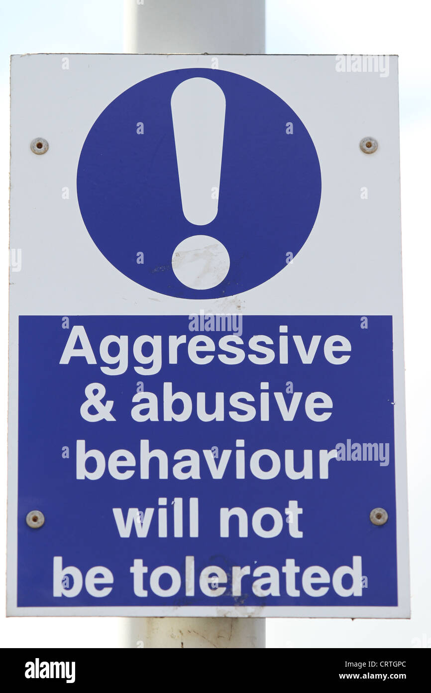 What Is An Asbo >> Abusive Behavior Sign Aggressive Behaviour Sign Post Stock ...