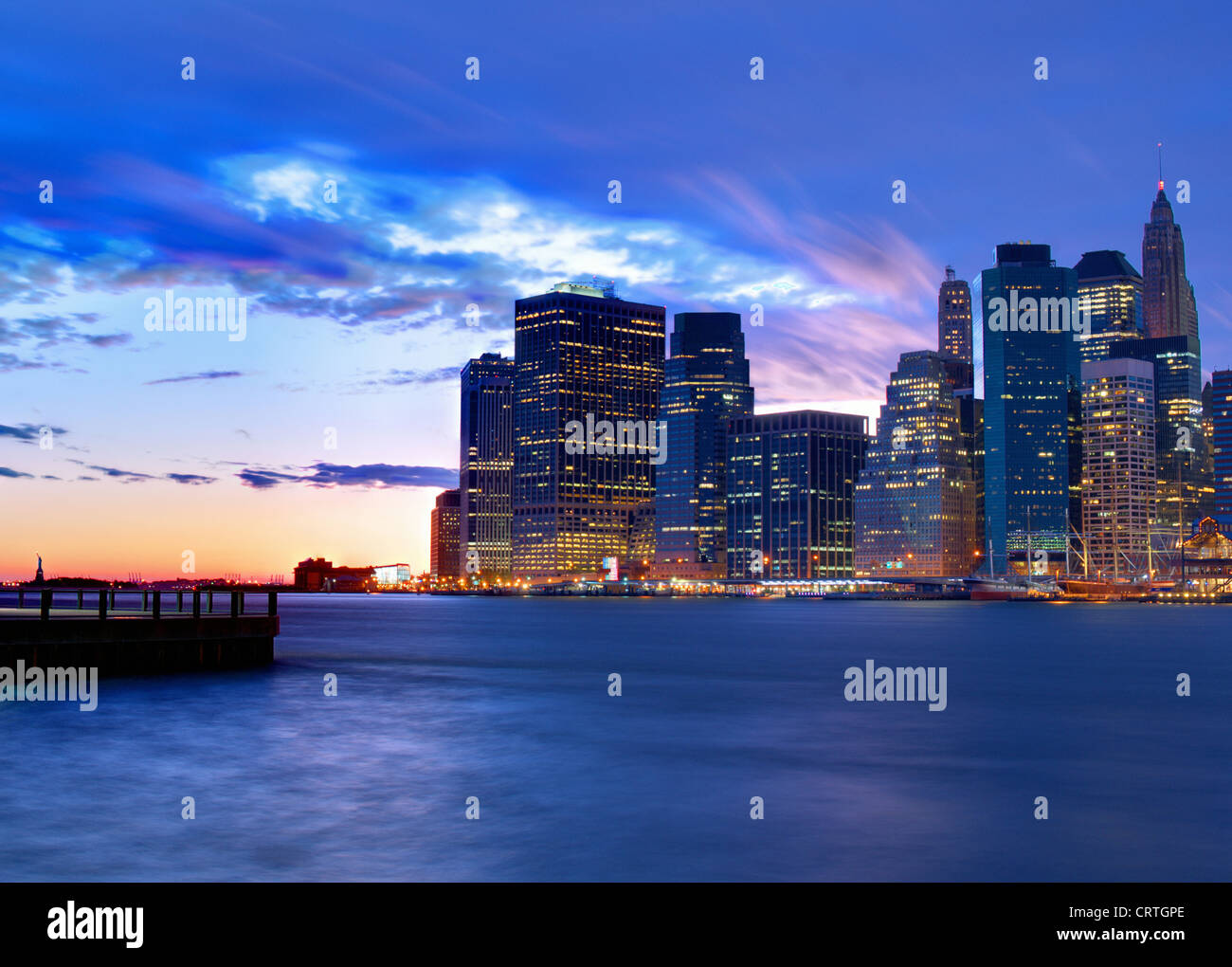 Skyline of downtown New York, New York, USA - Stock Image