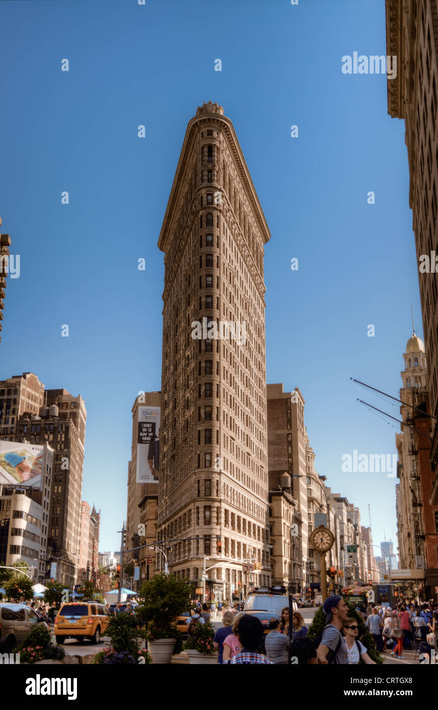 The famed Flatiron Building in New York City. - Stock Image