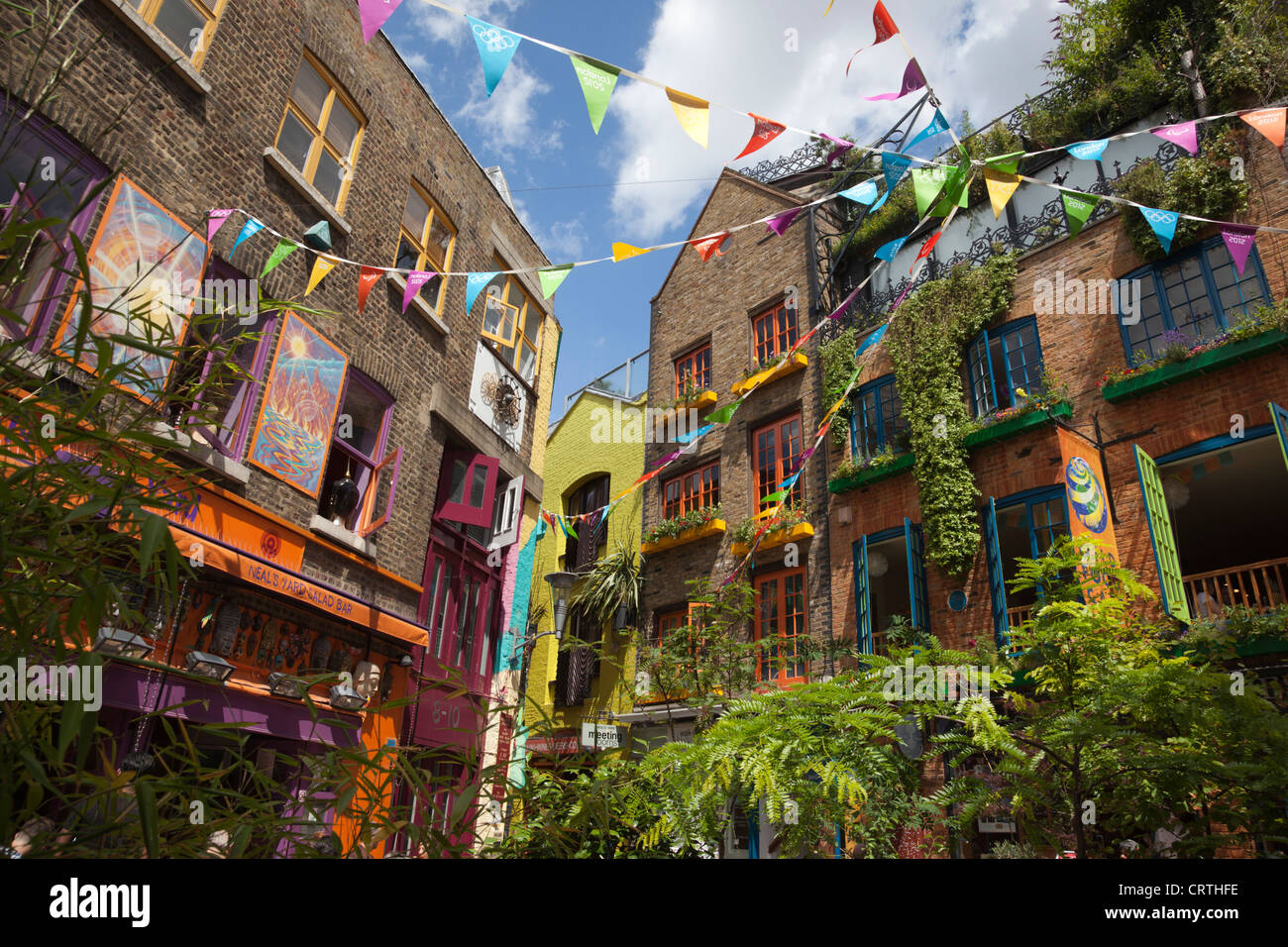 Neal\'s Yard, small square in Covent Garden, London, England, UK ...