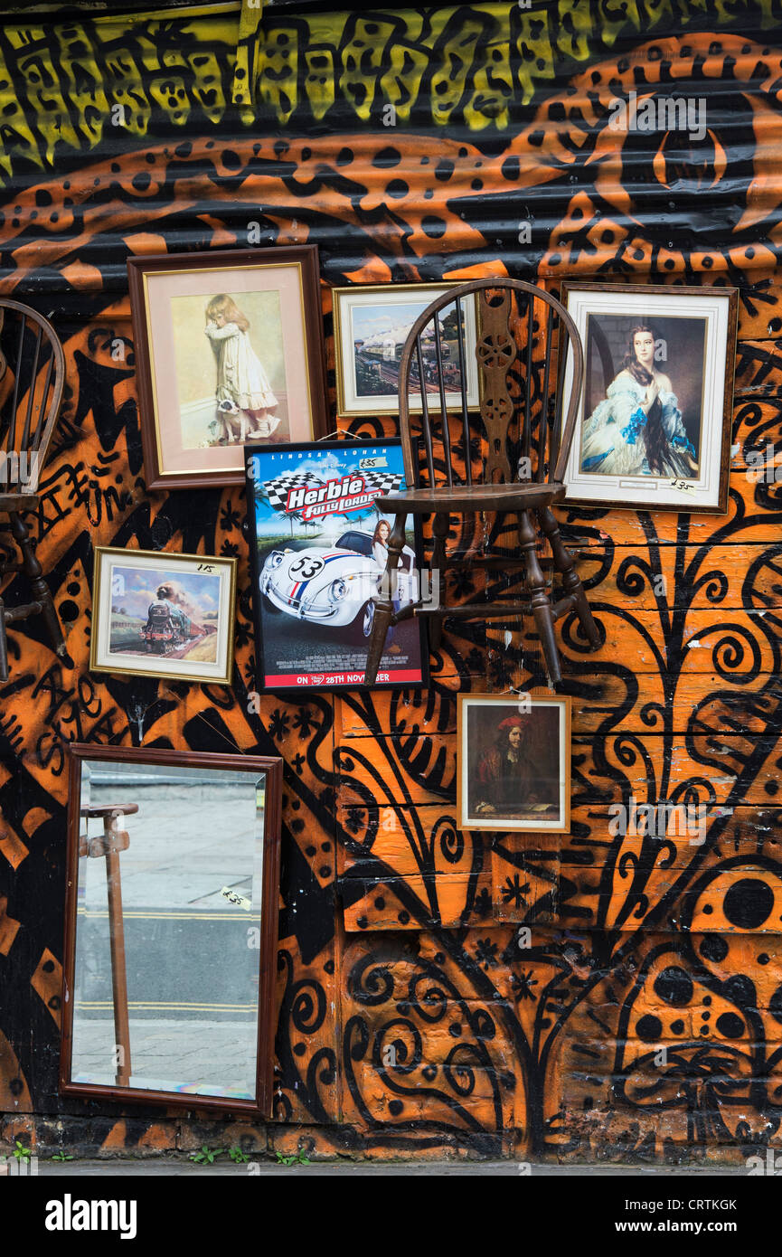 Secondhand shop front. Brick Lane, Tower Hamlets, London, England Stock Photo