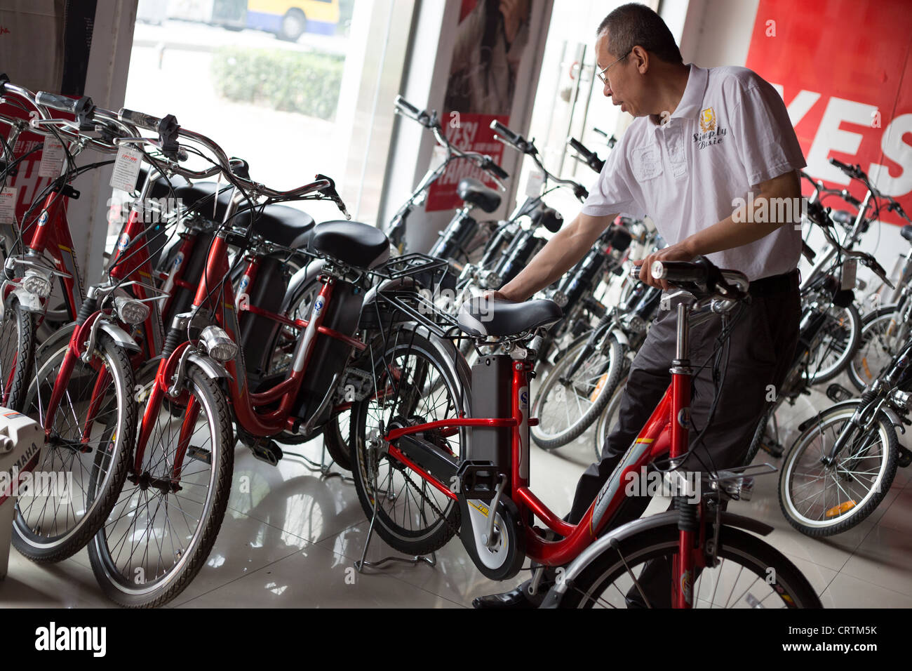 Battery Powered Bicycles >> Bicycle Shop In Beijing China Selling Electric Battery Powered