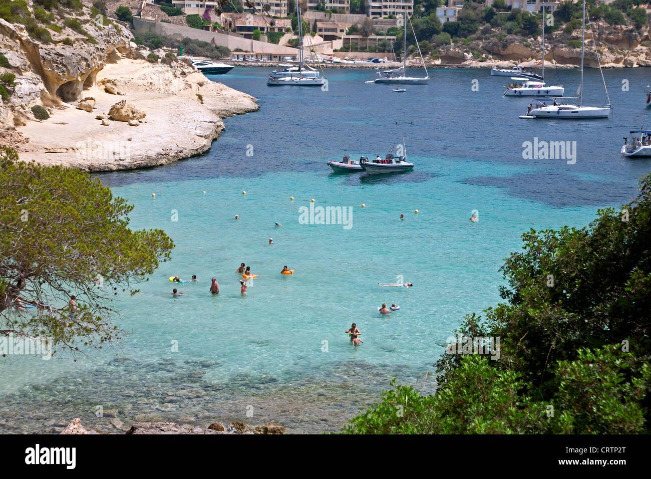 Portals Vells beach. Mallorca. Spain - Stock Image