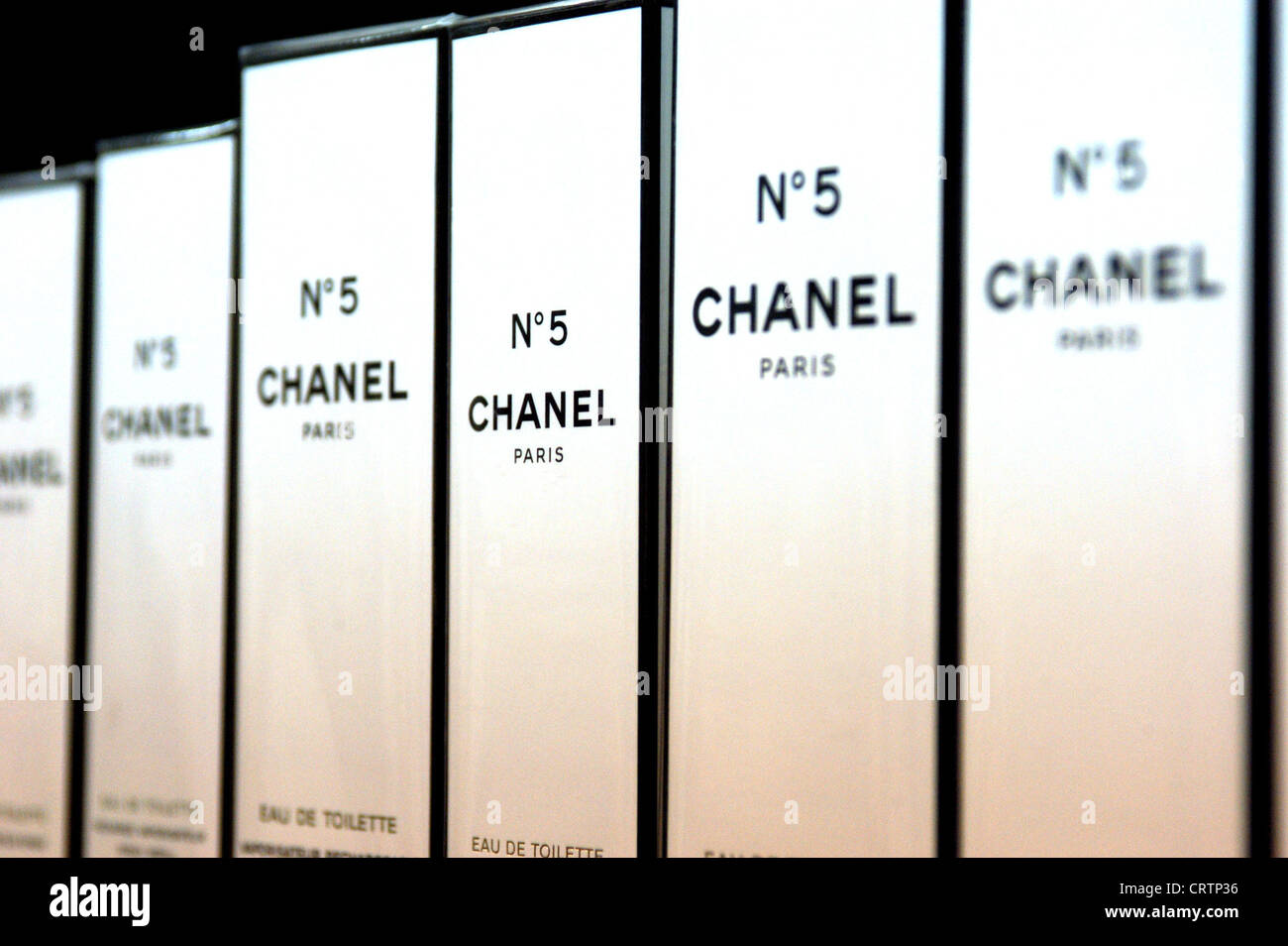 Berlin Boxes Of Perfume Chanel No 5 Stock Photo 49102010 Alamy
