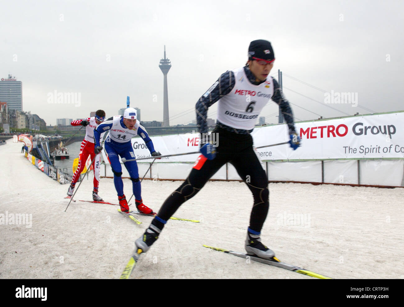 FIS Cross-Country World Cup sprint in Duesseldorf - Stock Image