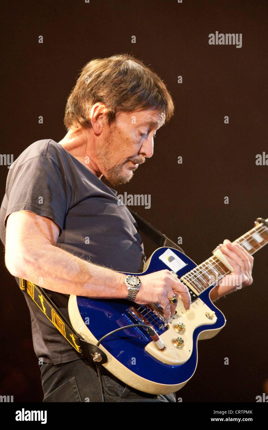 Chris Rea performs at the Sportarena, Hungary 02.15.2012. - Stock Image