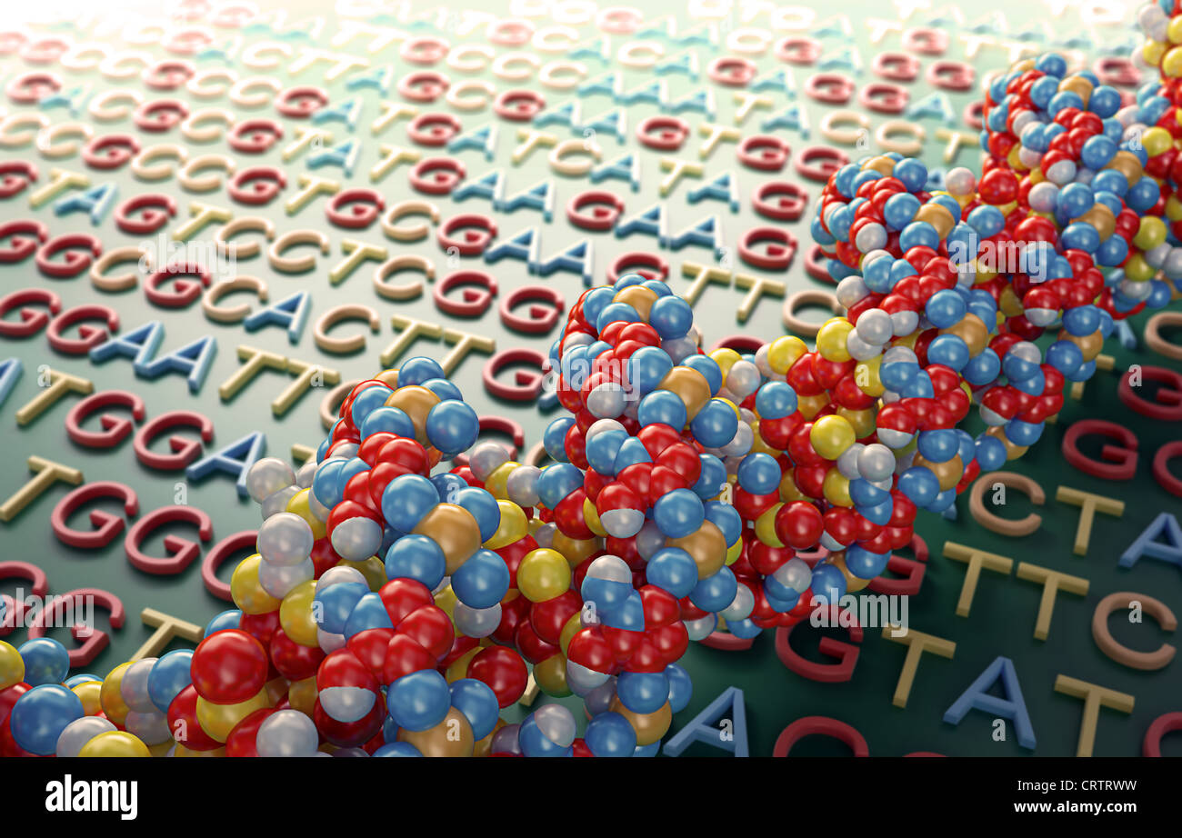 DNA sequencing concept illustration - Stock Image
