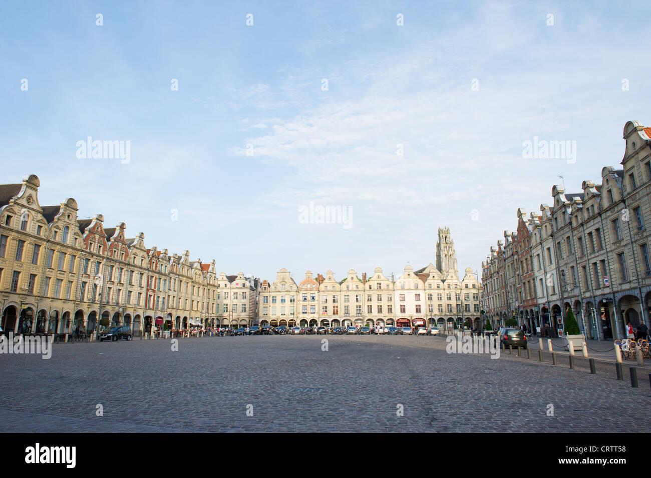Square in Arras - Stock Image