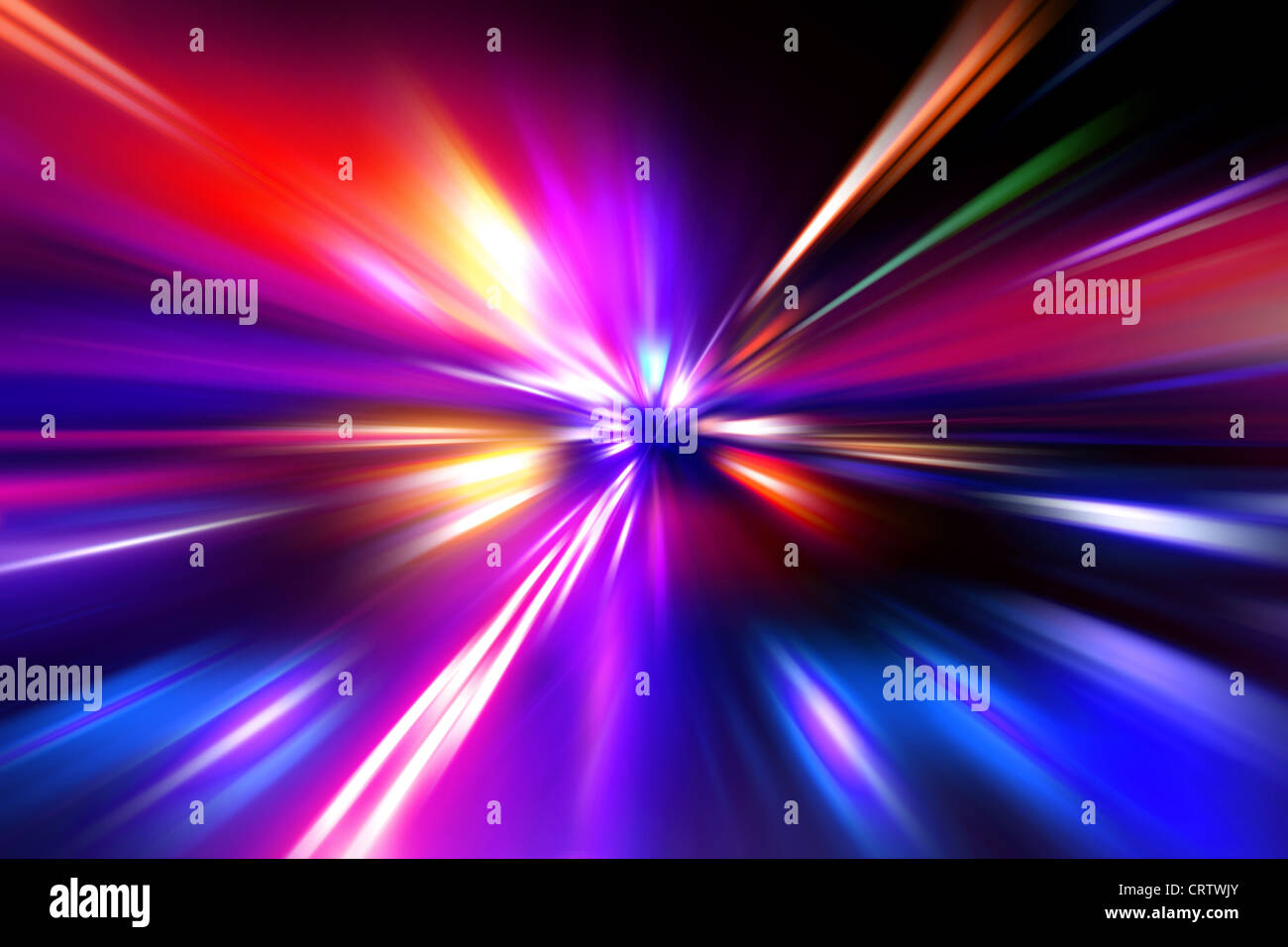 colorful radial radiant effect - Stock Image