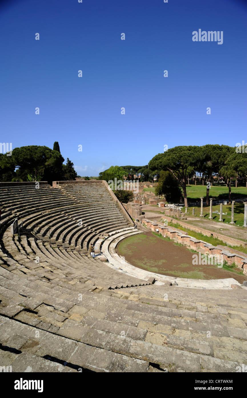 italy, rome, ostia antica, roman theatre - Stock Image