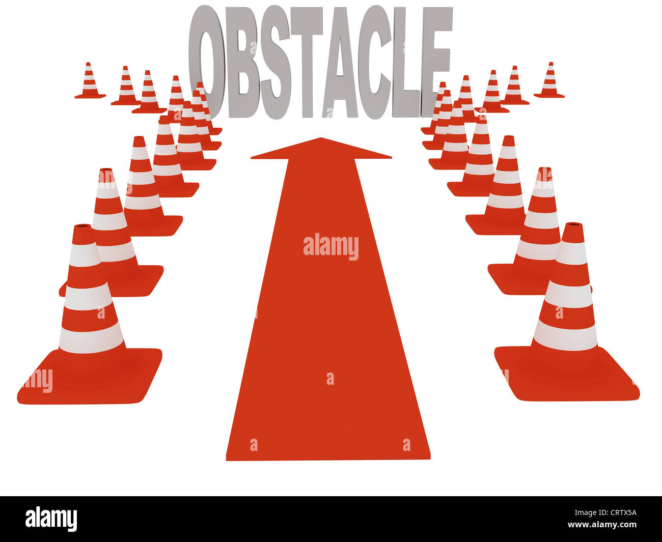 Overcoming obstacles - Stock Image