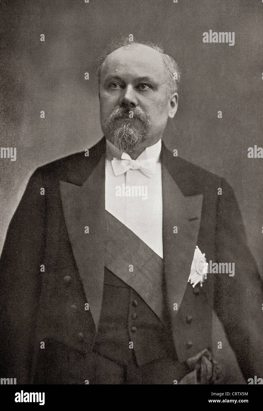 Raymond Poincaré, 1860 – 1934. French statesman and five times Prime Minister of France. From The Year 1914 - Stock Image